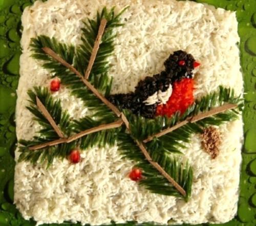 Новогодний салат-коктейль «Снежная зима»