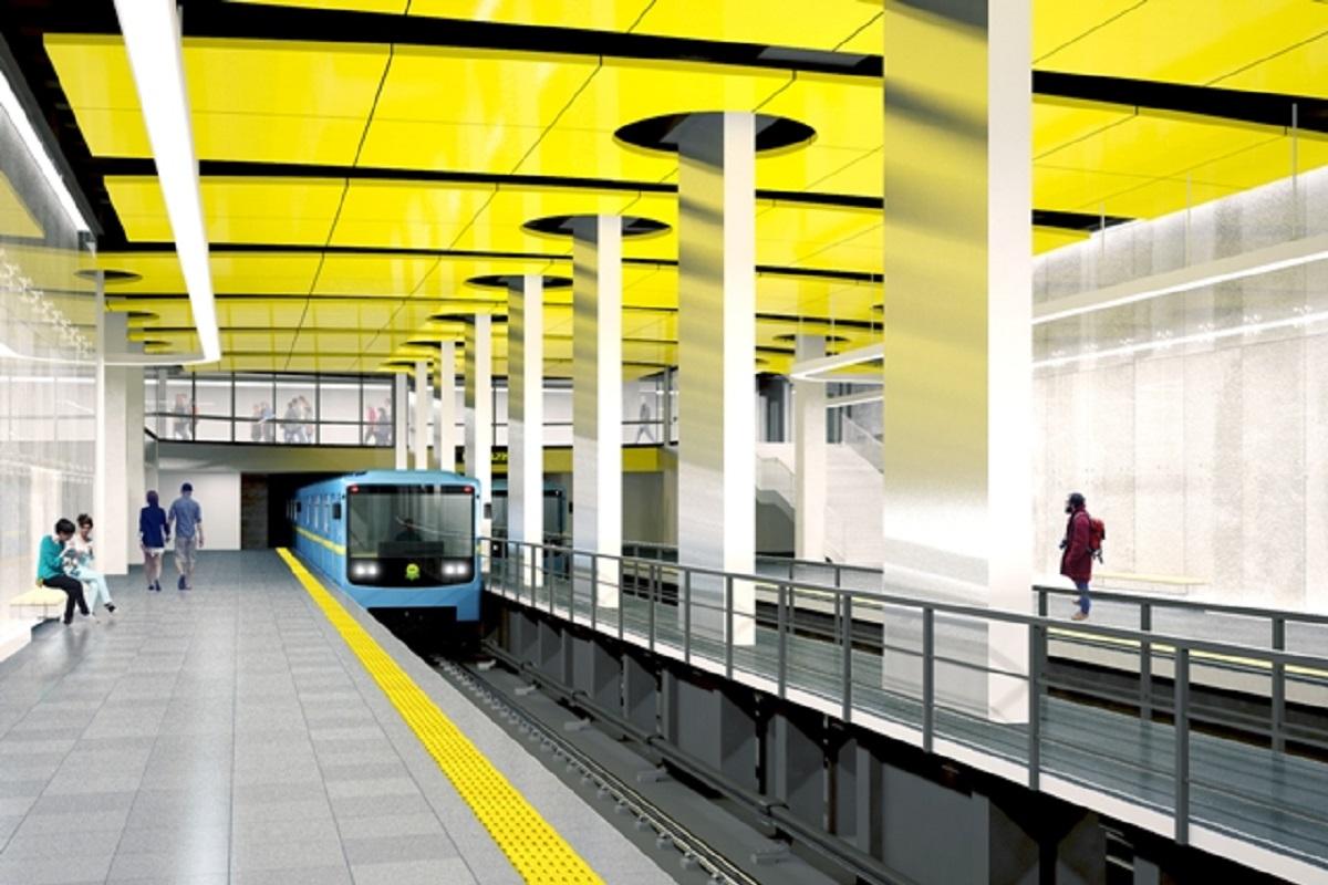 Проект станции метро «Проспект Правды» изнутри