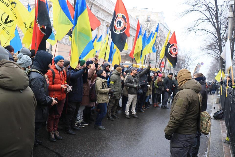 Реваншисты протестуют против принятия закона о реинтеграции Донбасса