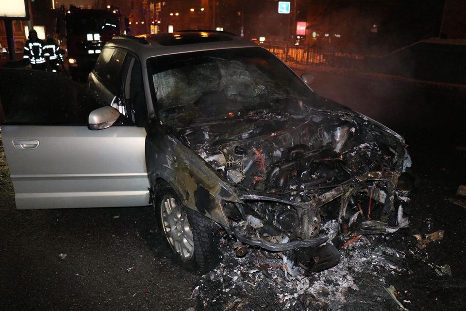 На бульваре Тараса Шевченко, 33 вспыхнул автомобиль