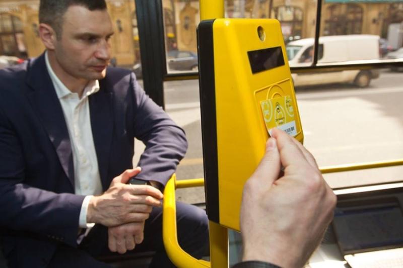 Валидаторы, которые устанавливают в общественном транспорте Киева
