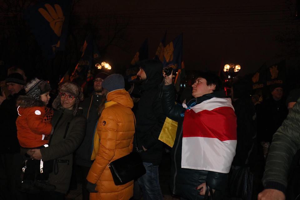 В Киеве проходит шествие в честь дня рождения Степана Бандеры