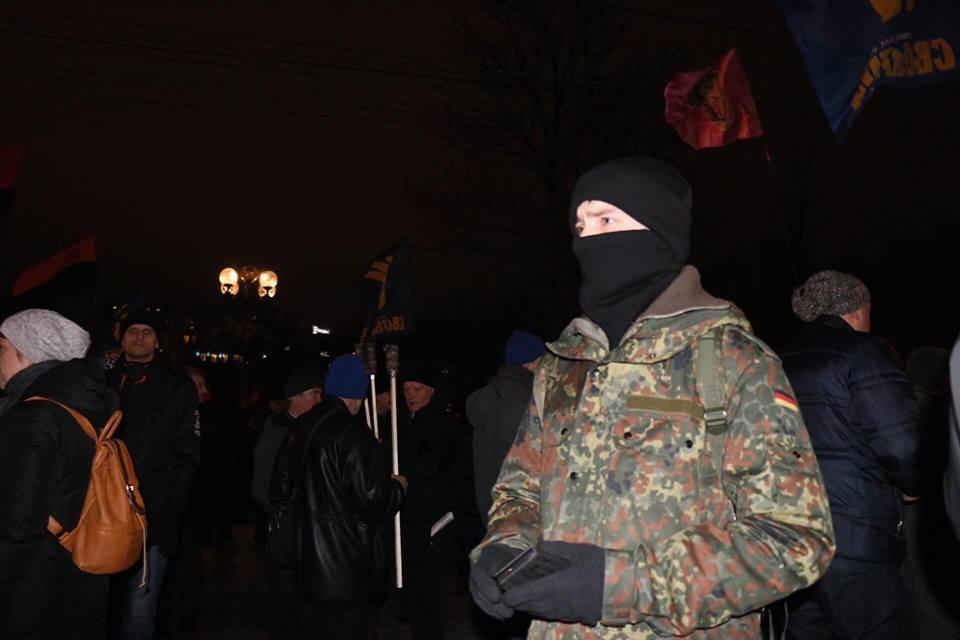 Факельное шествие уже традиционно для Украины 1 января