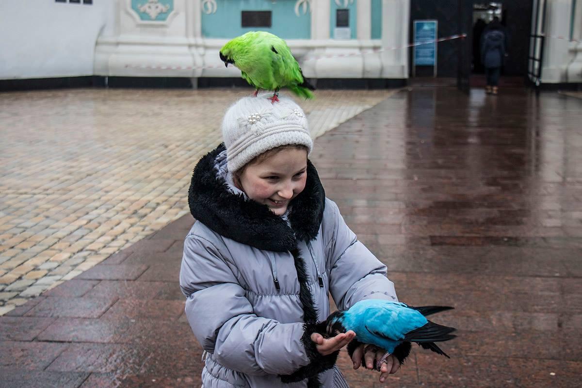 Дети с удовольствием общаются с красочными друзьями