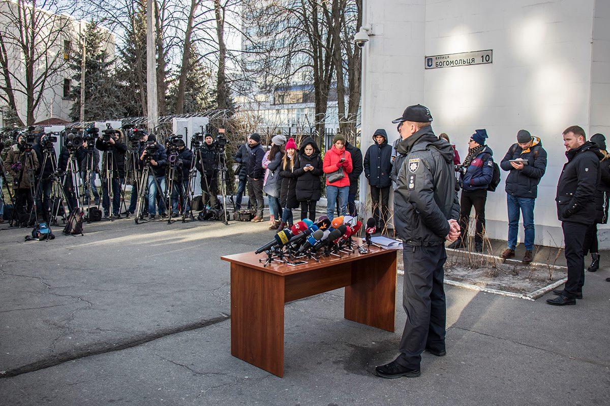 Брифинг заместителя начальника криминальной полиции Вячеслава Аброськина