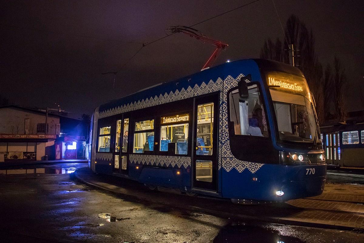 Трамвай отправился на конечную остановку