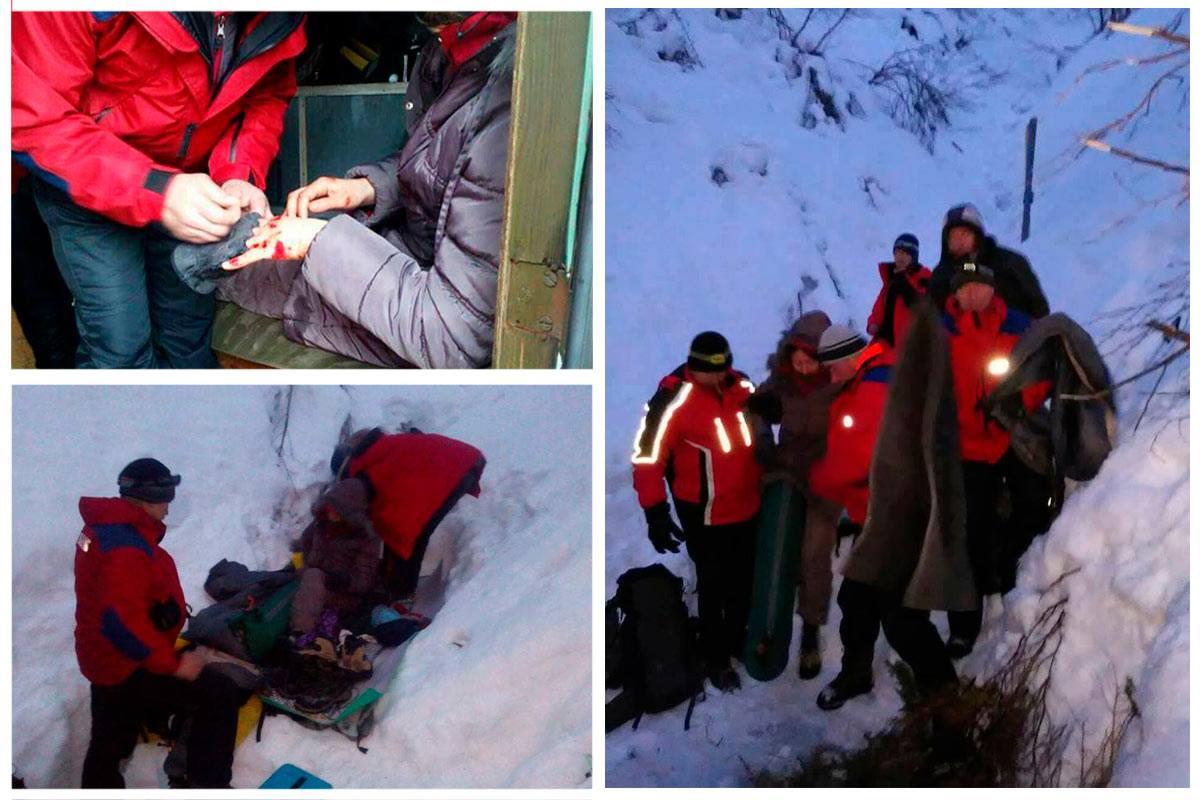 В Закарпатской области девушка из Киева упала с 300-метрового склона