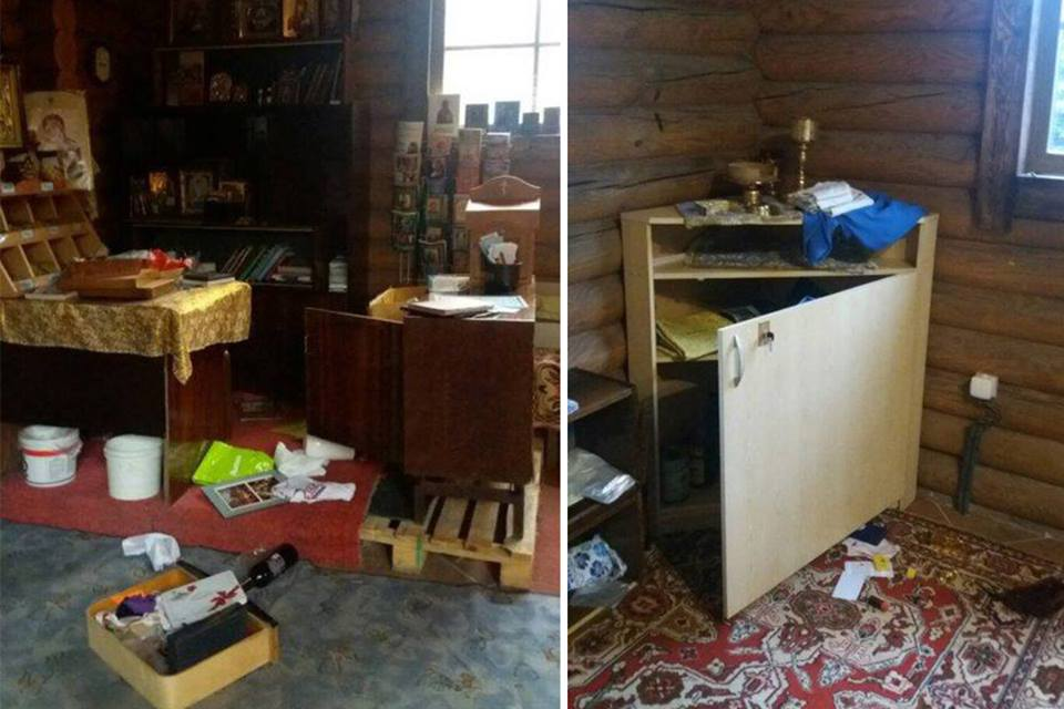 ВКиеве ограбили храм иразбросали пополу святые дары