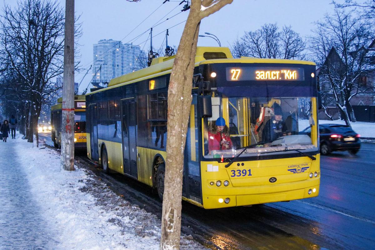 Движение троллейбуса № 27 временно приостановлено