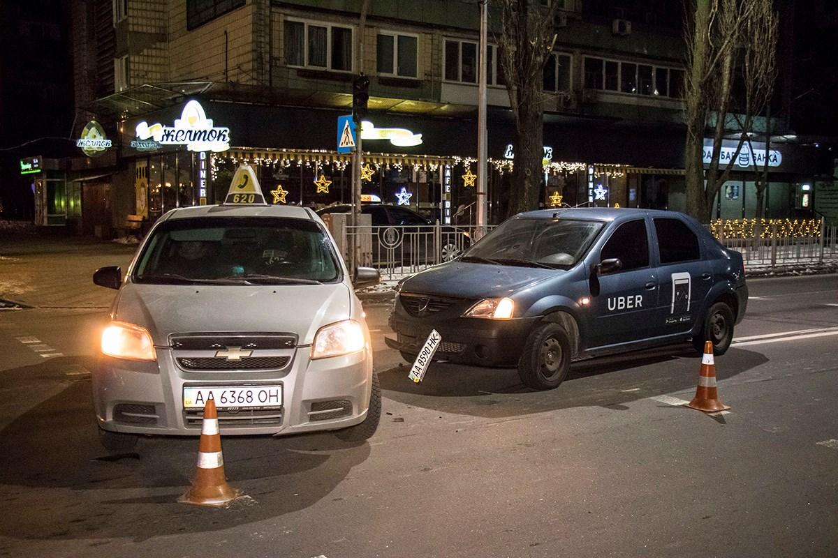 ДТП произошло на Русановской набережной