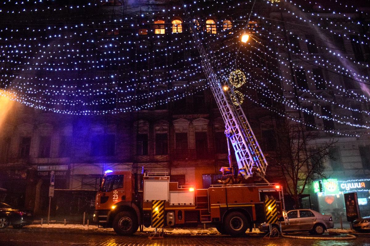 Для тушения пожара использовали кран