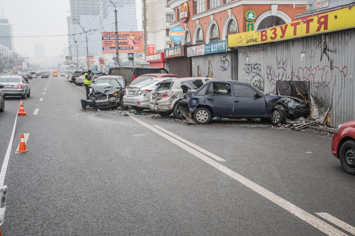В аварии никто сильно не пострадал