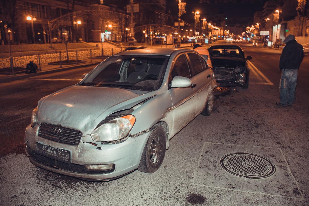ВодительUber не выдержал дистанцию и врезался в один из автомобилей