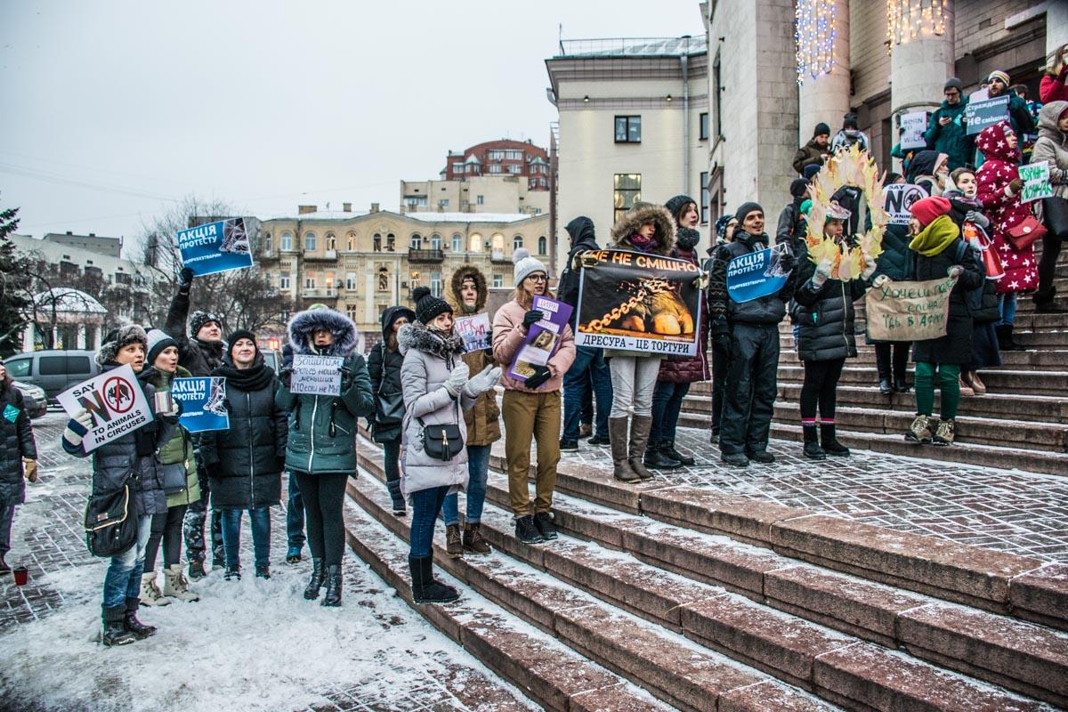 Из-за сильного холода активисты протестовали всего полтора часа