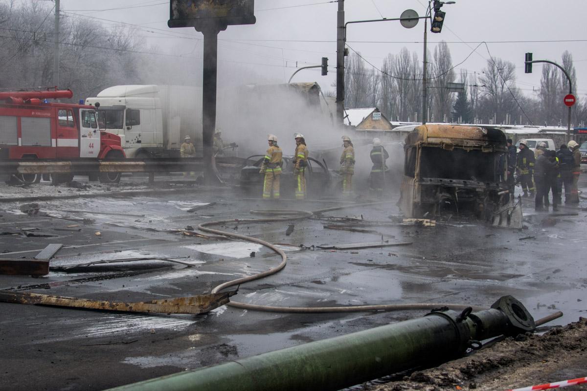Авария произошло на улице Заболотного, 124