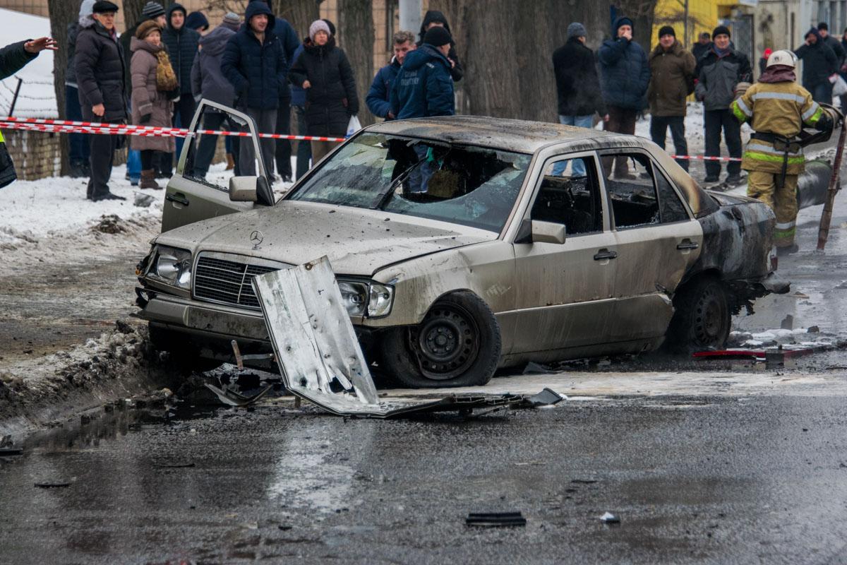 Водитель Mercedes-Benz W140 сильно не пострадал