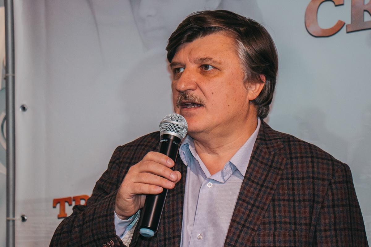 Перед показом режиссер Валерий Шалыга рассказал о двух полюсах жизни в нынешней Украине