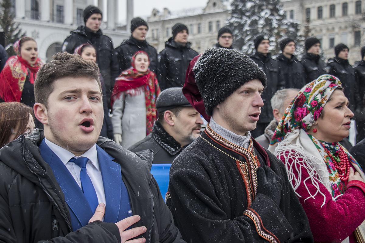 Всех людей объединила одна великая цель - желание мира в Украине