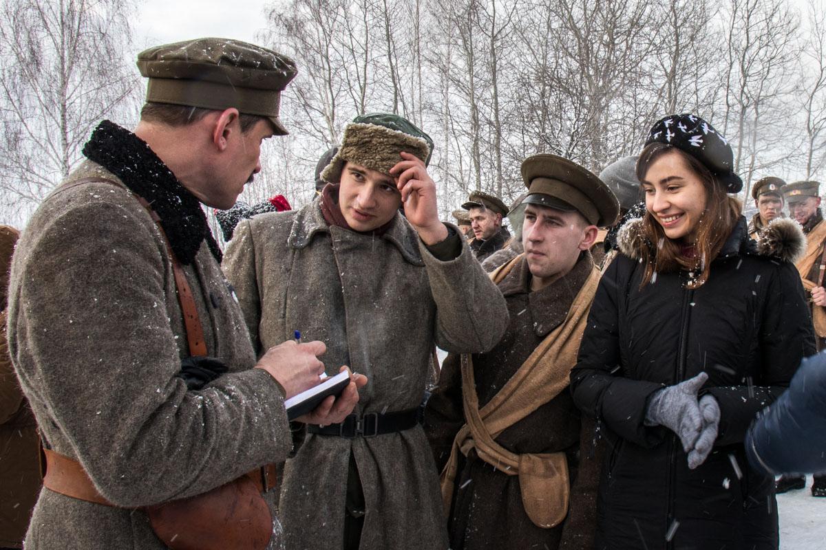 """Несмотря на жуткий холод и снег, под Киевом проходят съемки фильма """"Круты 1918. Защита"""""""
