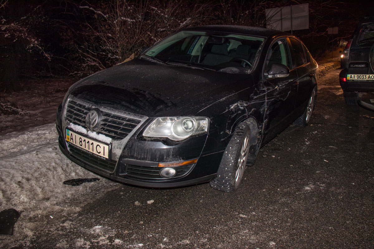 Volkswagen получил незначительные повреждения