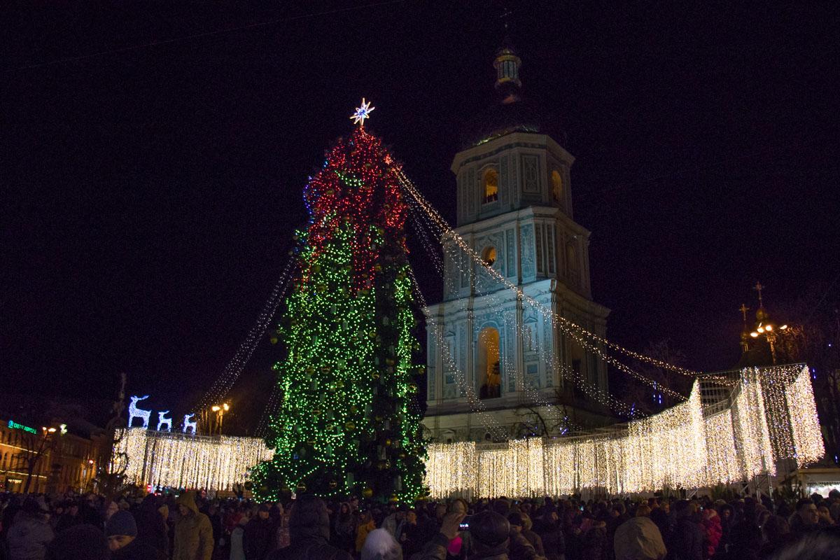 Главная елка страны привлекает большое количество горожан и туристов