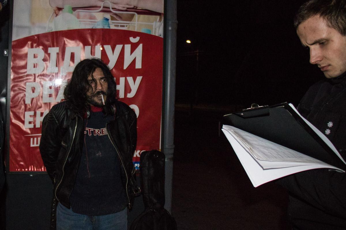 Ночь для музыканта закончилась задержанием
