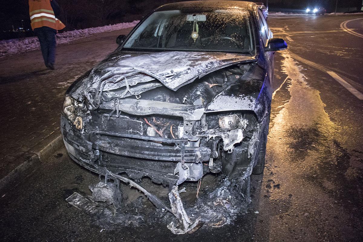 Водитель авто не пострадал