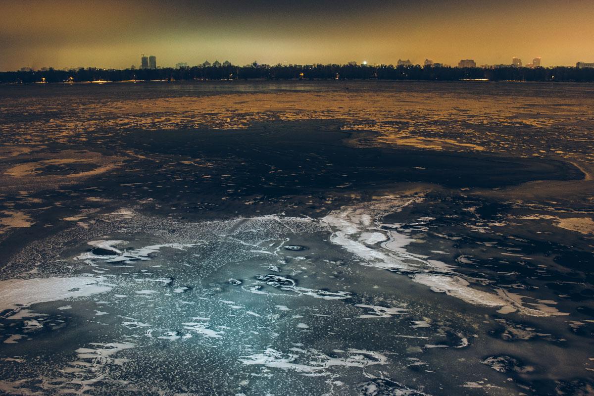 Какие рисунки проявились на льду?