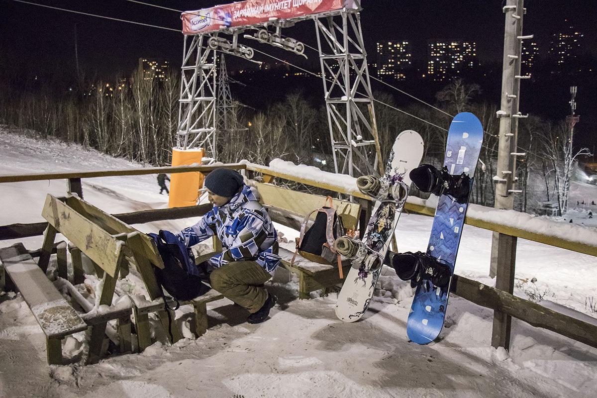 Среди гостей Протасового Яра много сноубордистов