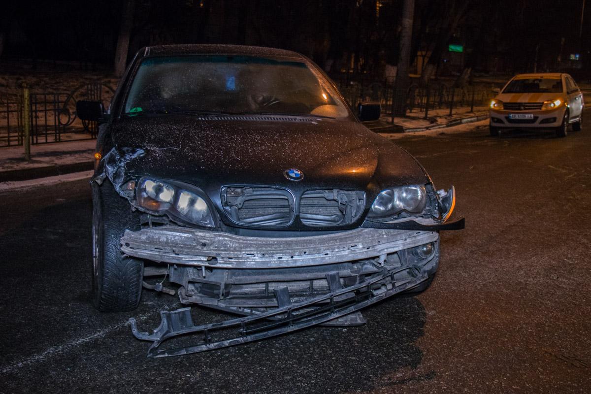 BMW пытался развернуться