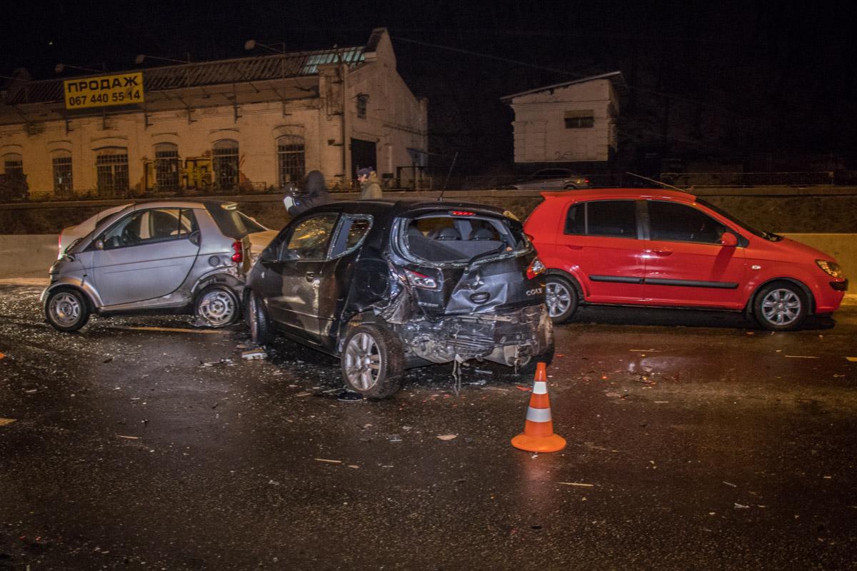 На Набережном шоссе в ночь на 17 января было много аварий