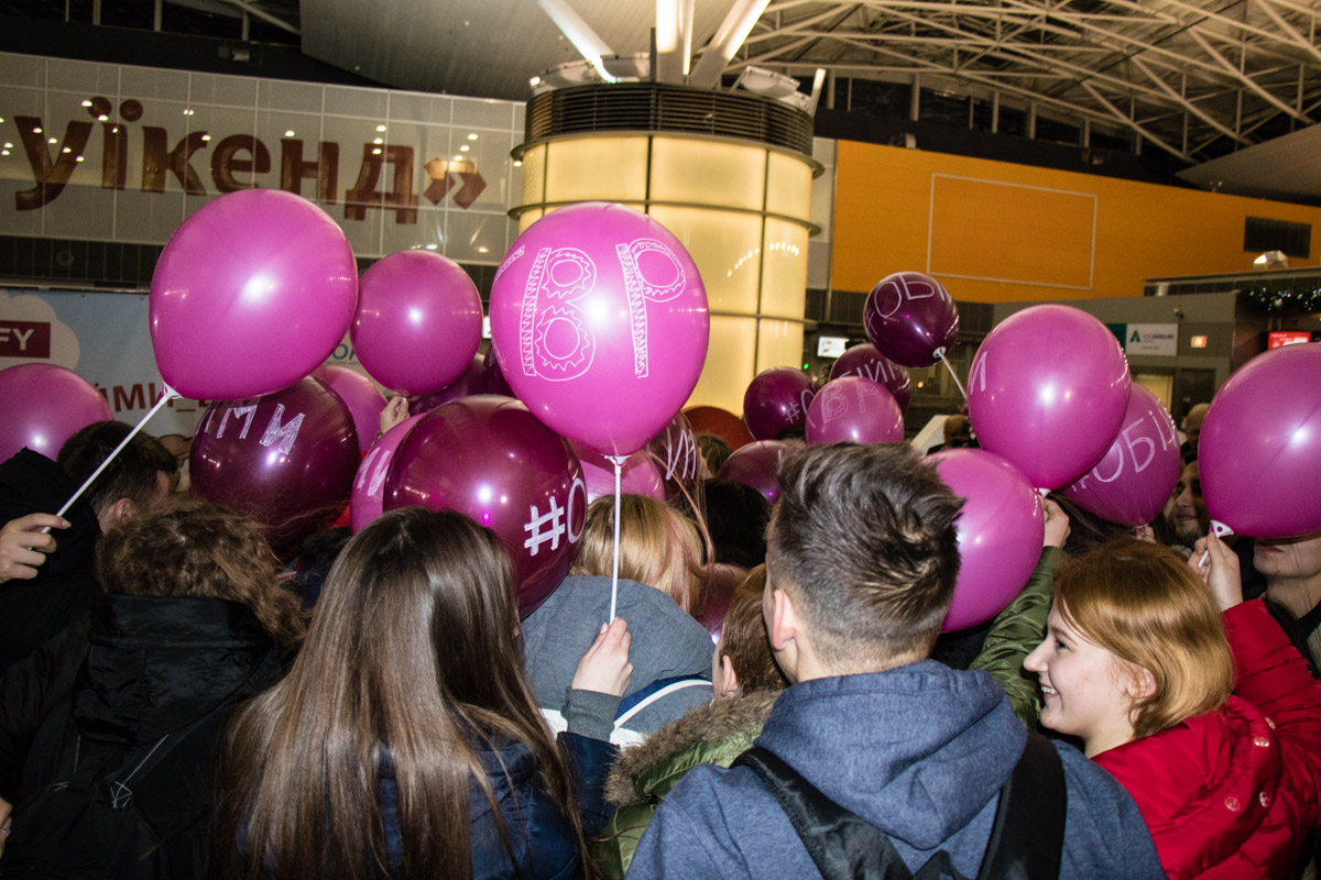А так выглядели массовые объятия студентов