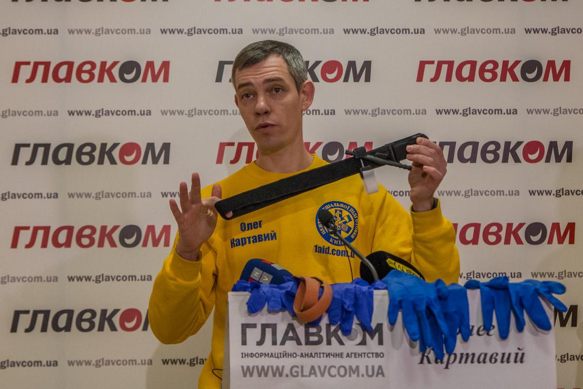 Современный жгут типа CAT, который изготовляют в Украине