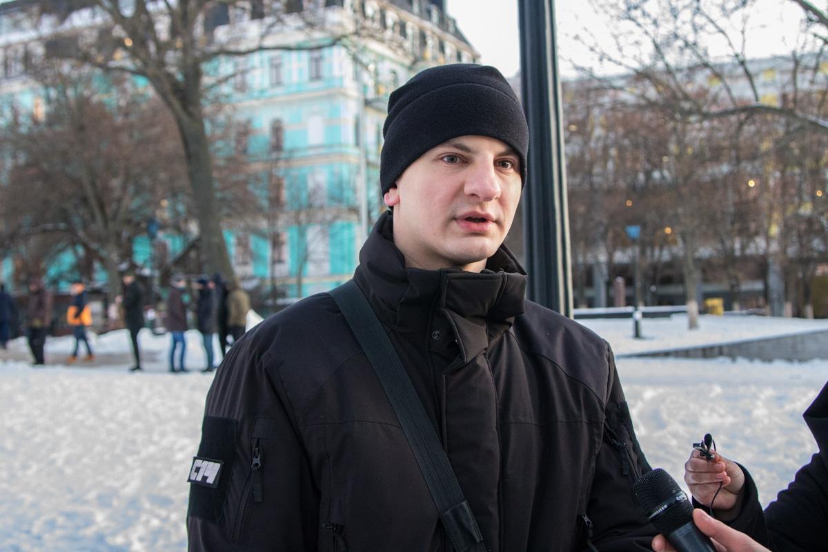 Среди присутствующих был один из лидеров С14 - Евгений Карась