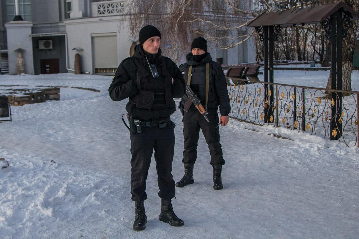 Полиция была в полной боевой готовности
