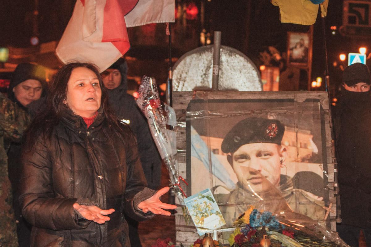 На месте гибели Жизневского участники сказали памятную речь