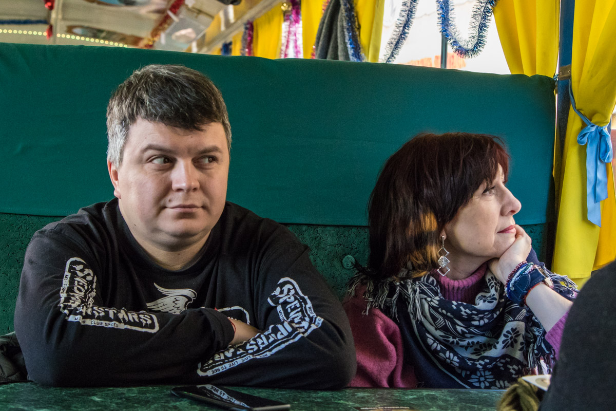 Пассажиры с удовольствием слушали истории о Киеве