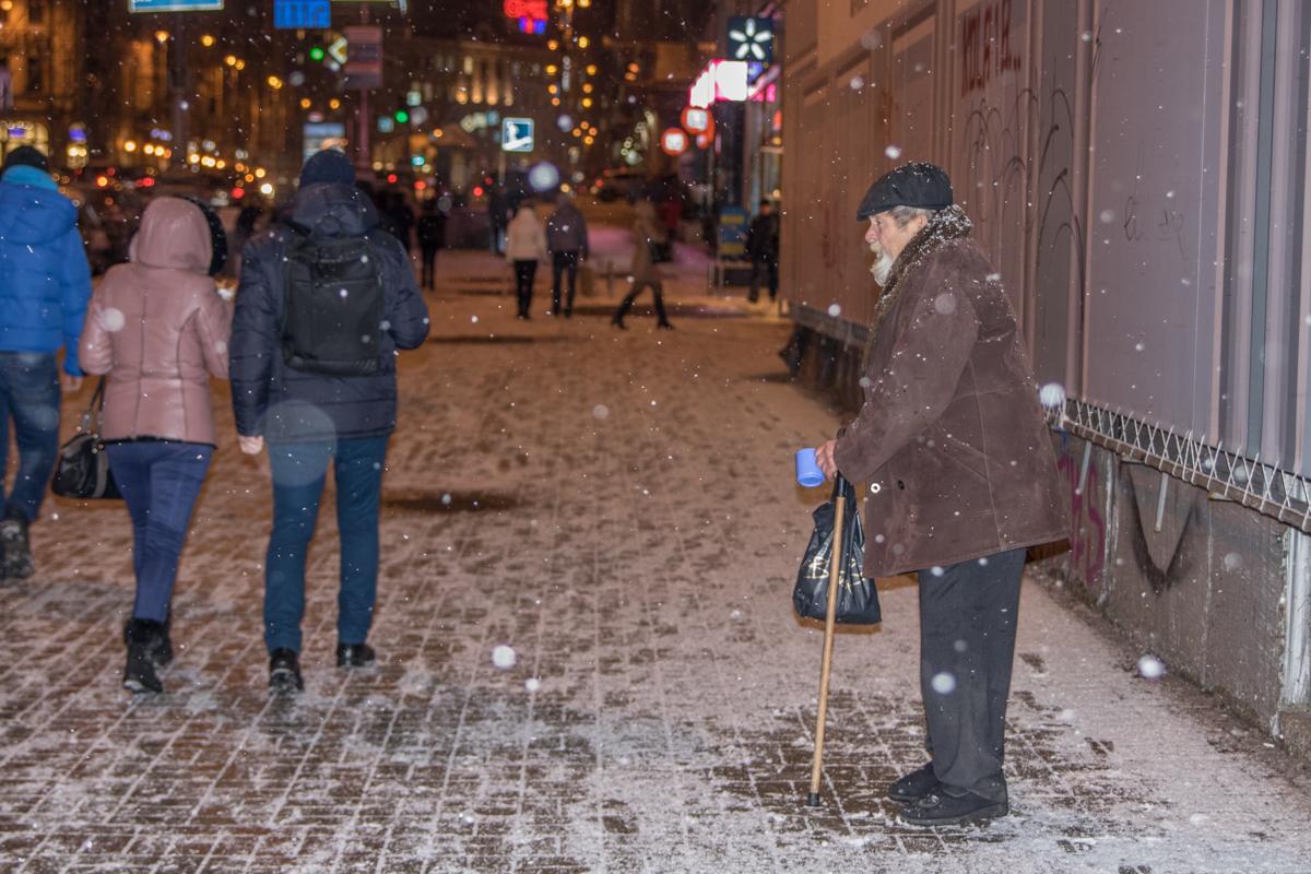 Кто-то и в снегопад остается на своих местах