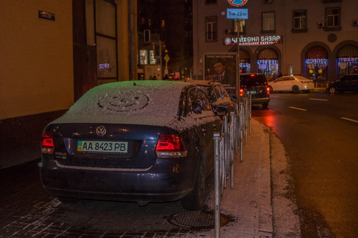 На этот раз снегопад в Киеве оказался не сильным, но морозным