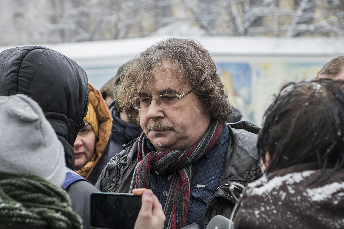 Один из организаторов акции Владимир Черемыс