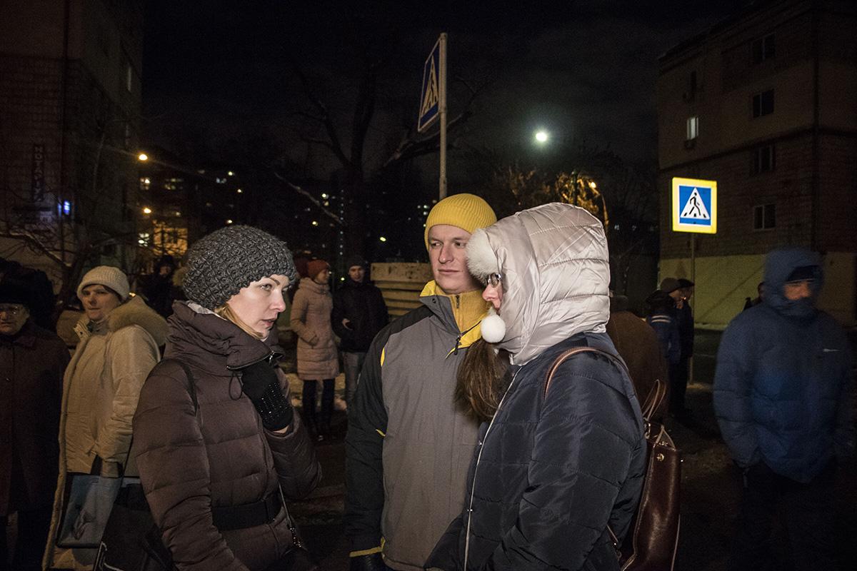 Местные жители протестуют против строительства высотки