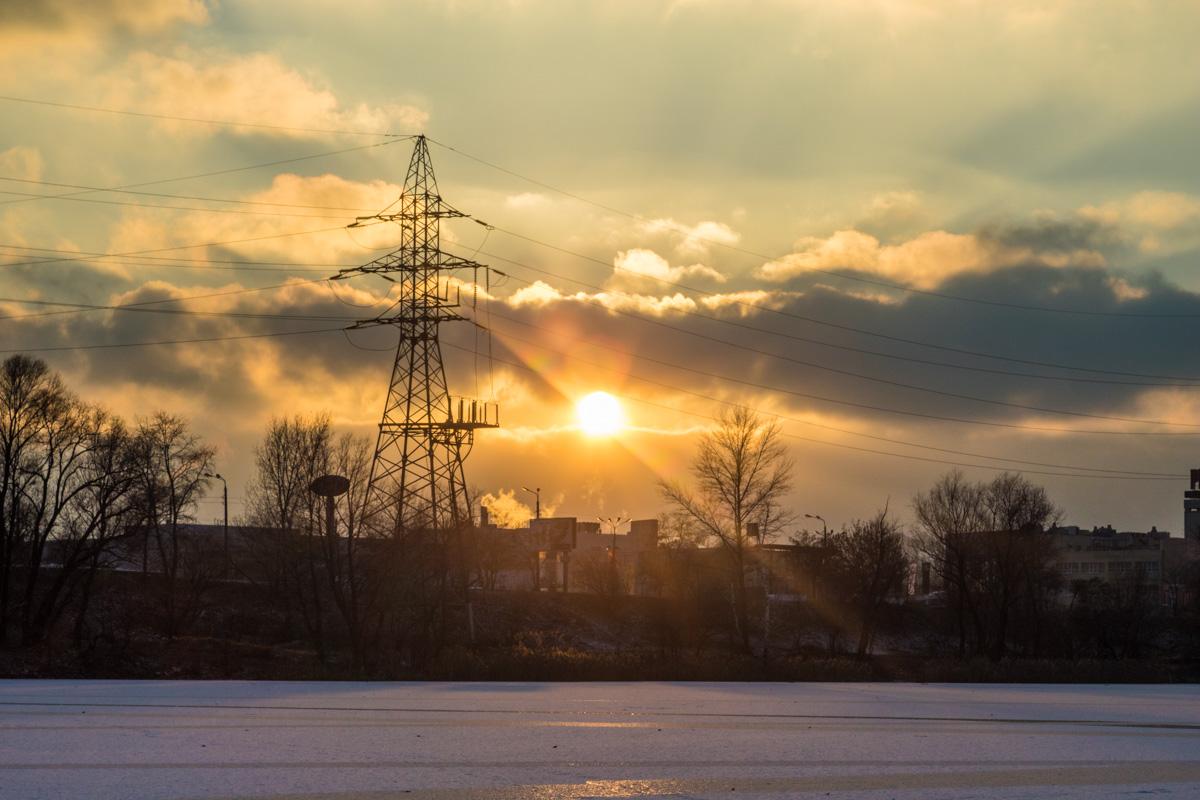 Зимние закаты над Оболонью