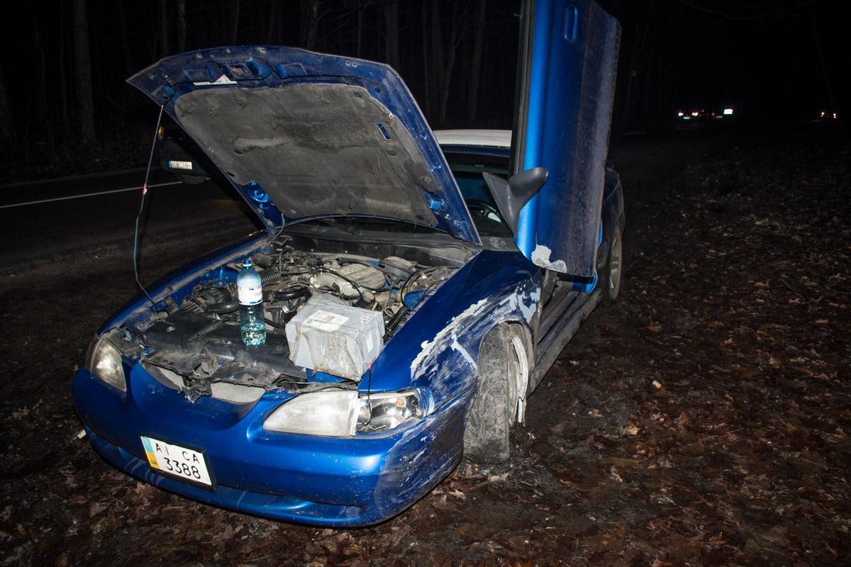 Так после столкновения выглядел Ford Mustang