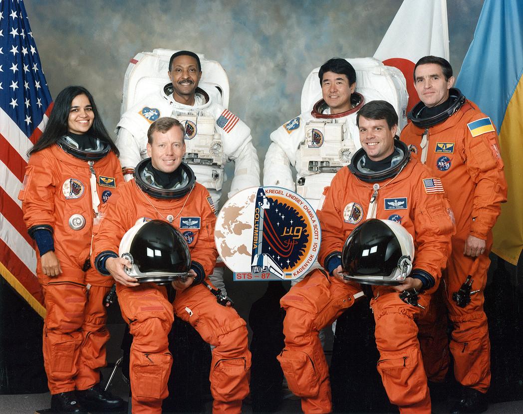 Леонид Каденюк с командой перед главным полетом в его жизни