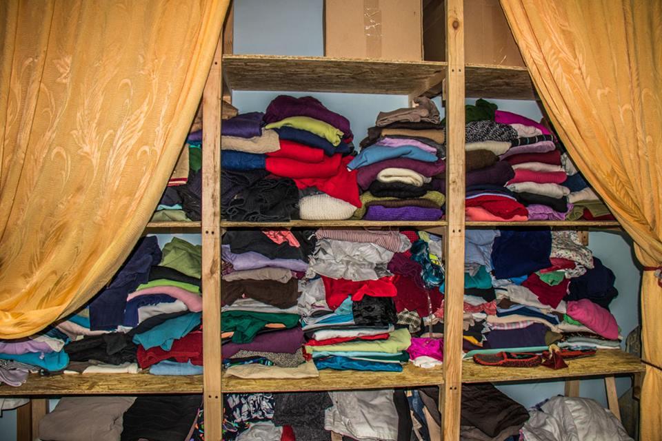 Центр периодически проводит акции по сбору одежды