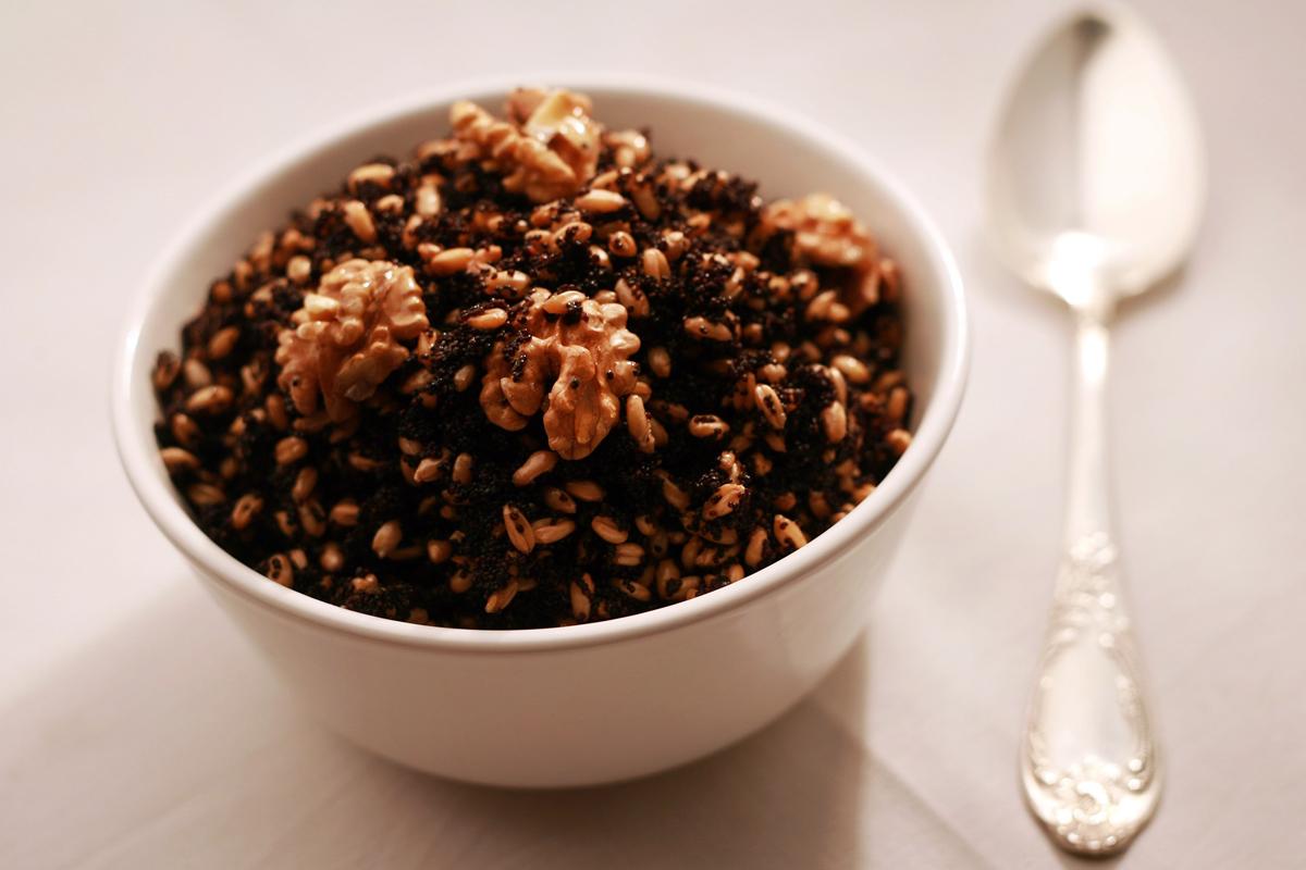 Пшеничная кутья с орехами