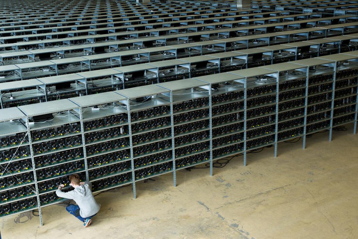 Добывают биткоины с помощью фермы