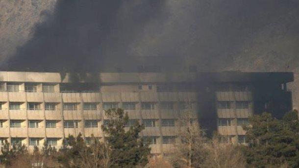 Атакованный отель в Кабуле