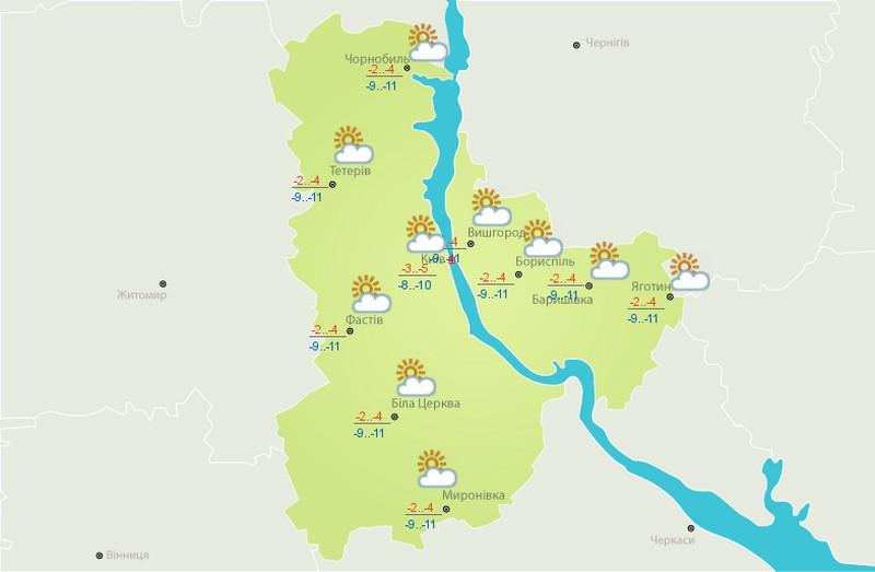 Погода в Киеве 14 января