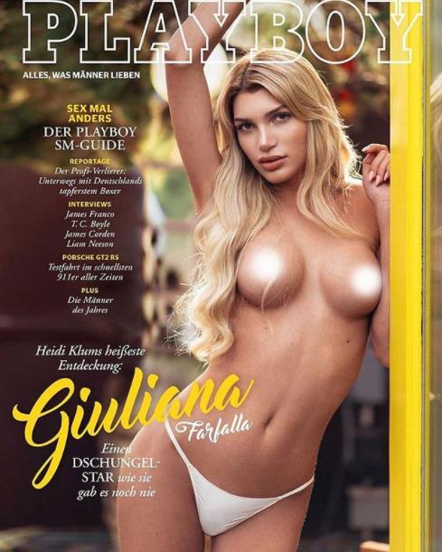 21-летняя модель-трансгендер Джулиана Фарфалла снялась для журнала топлес